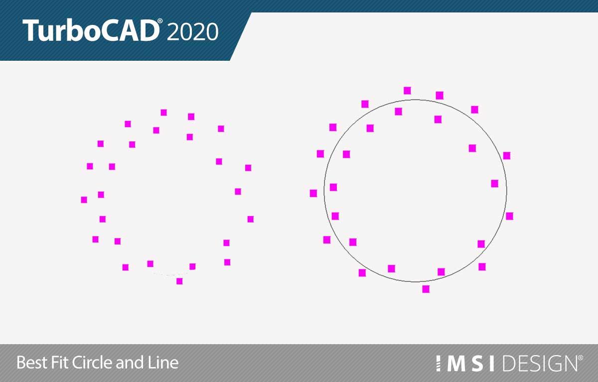 Cercle et ligne ajustés