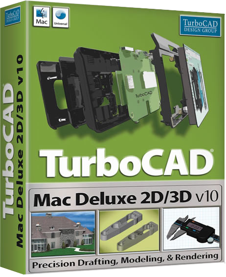 TurboCAD Mac Deluxe 2D/3D V10